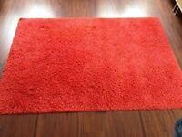 Red IKEA Shaggy Rug