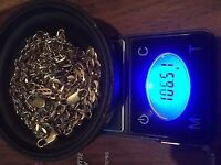 9ct gold scrap chains 106g