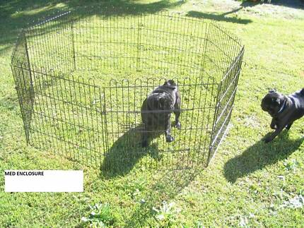 NEW BUDGET Metal PET Enclosure -8 panel- 4 SIZES -FROM $34- BLACK