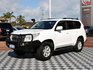 2012 Toyota Landcruiser Prado KDJ150R GXL White 5 Speed Sports Automatic Wagon