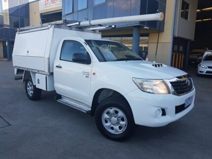 2012 Toyota Hilux KUN26R MY12 SR (4x4) 5 Speed Manual Cab Chassis