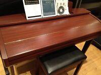 Yamaha Clavinova CVP307 Digital Piano + Matching Stool. Mahogany. UK Hand delivery possible