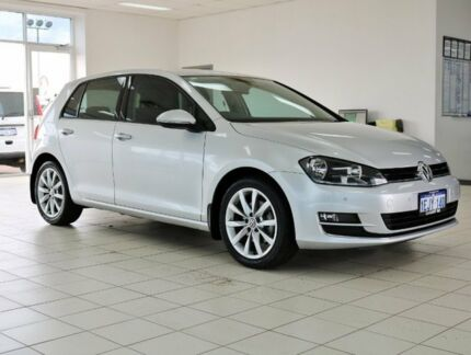 2014 Volkswagen Golf AU MY14 110 TDI Highline Silver 6 Speed Direct Shift Hatchback