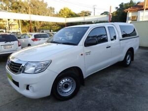 2015 Toyota Hilux GGN15R MY14 SR White 5 Speed Automatic Sylvania Sutherland Area Preview