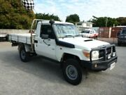 2007 Toyota Landcruiser VDJ79R Workmate White Manual Cab Chassis Townsville Townsville City Preview
