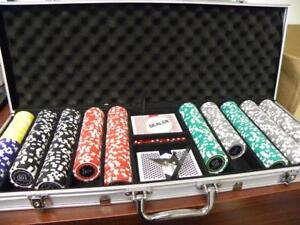 500 Pc Poker Chip Set (Very used; Pickup Only)