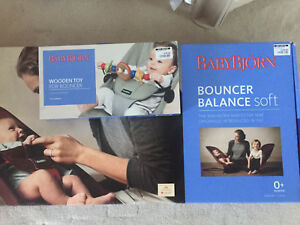 BabyBjorn Bouncer Balance Soft with a wood toy in a box South Perth South Perth Area Preview
