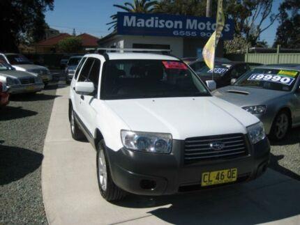 2007 Subaru Forester MY07 X White 4 Speed Auto Elec Sportshift Wagon