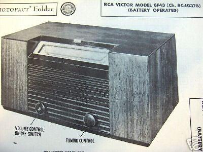 RCA 8F43 (Ch. RC-1037B ) RADIO PHOTOFACT