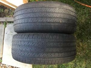 2 Michelin Pilot HXMXM4 - 235/55/17 - 50% - $40 For Both