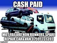 Mot failures non runners spare repairs cars vans wanted