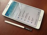 WHITE SAMSUNG NOTE 4 WITH CHARGER 02 PRICCE 200 OR SWAP SAME PRICE