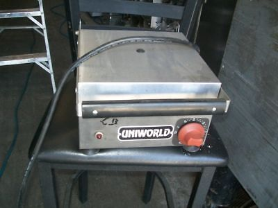 PANINI GRILL,  ELECTRIC FLAT GRILL,   115 V, UNIWORLD,  900 ITEMS ON EBAY