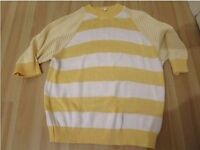 Vintage Melvyn Harris yellow striped jumper UK8