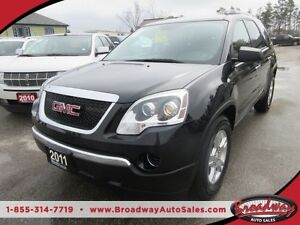 2011 GMC Acadia WELL EQUIPPED SLE MODEL 8 PASSENGER 3.6L - V6..
