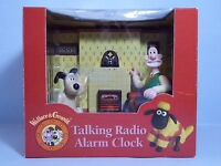 Wallace & Gromit Retro Animation Talking Radio Alarm Clock Boxed Not Used 1996