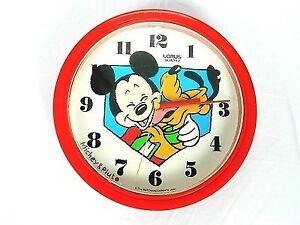 Vintage horloge Wall Clock Mickey pluto Mouse