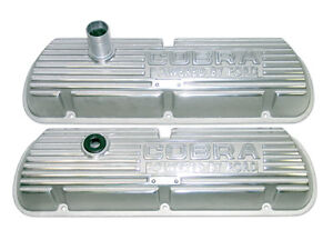 SB Ford Cobra Finned Aluminum Valve Covers.