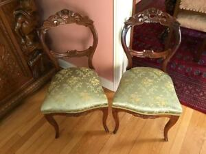 Antique Side Chairs (matching pair)