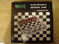 Brand New Drinking Draughts Checkers Game (Boxed with 32 Shot Glasses)