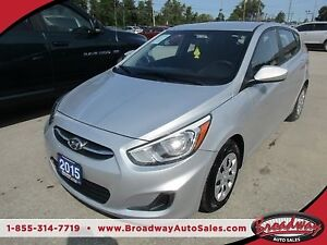 2015 Hyundai Accent POWER EQUIPPED GLS MODEL 5 PASSENGER 1.6L -