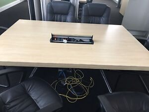 Meeting / training table with media hub and cables Warabrook Newcastle Area Preview