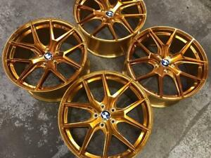 "19"" Polished Gold Staggered Wheels 5x120 (BMW Cars)  BLOWOUT SALE Calgary Alberta Preview"