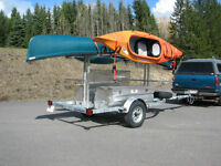 4 Place Canoe 8 place Kayak Trailer with OPTIONAL storage boxes