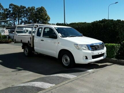2012 Toyota Hilux GGN15R MY12 SR Xtra Cab White 5 Speed Automatic Utility