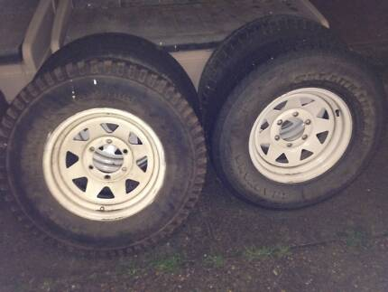15x7 Toyota/Nissan Stud Pattern Rims and Used Tyres