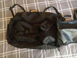 Outbound Large Black Backpack with Zip-off Day Backpack Kitchener / Waterloo Kitchener Area image 3