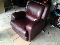 Substantial Quality Leather Manual Recliner armchair
