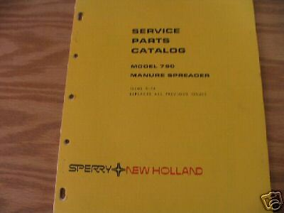 New Holland 790 Manure Spreader Parts Catalog