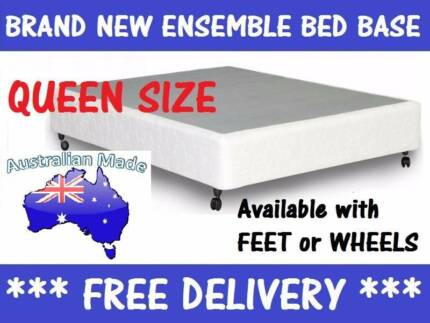 BRAND NEW QUEEN Size Bed Ensemble BASE Delivered FREE