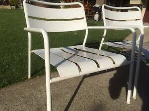 Vintage steel Armchairs x 2 Coffee table height armchairs Kewdale Belmont Area Preview