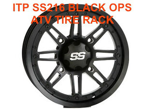 "ITP BLACK OPS  SS216 Canada ATV WHEEL RIM 12""  ATV TIRE RACK"