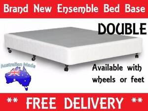 BRAND NEW Double Size Ensemble Bed Base AUSTRALIAN MADE New Farm Brisbane North East Preview