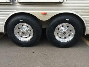 TRAILER TIRES, RIMS, AND TOWING PARTS AND INSTALL