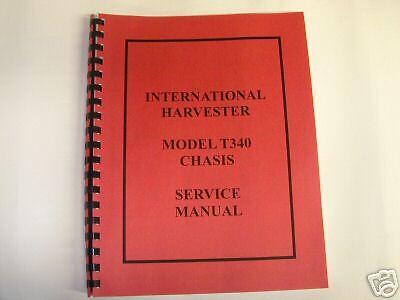 International T340 Crawler Chasis Service Manual New Free Shhipping