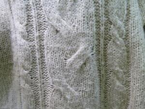 Comfortable Beige Cable Knit Sweater London Ontario image 3