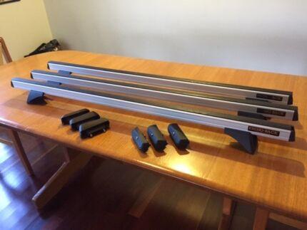 Rhino Heavy Duty RLCP Silver 3 Bar Roof Rack