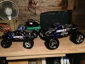 MINT Traxxas Jate AND Revo!!!  WITH tons of extras!