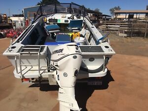 Quintrex reefmaster and 2012 etec 60hp low hours! Karratha Roebourne Area Preview