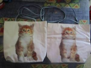 ***RARE*** 2 X Large Kitten Handbags/Tote Bags ***BRAND NEW*** Campbell North Canberra Preview