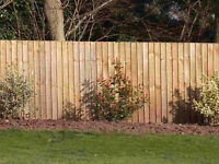 100 X Wooden treated fencing feather edge panel board 112 cm long X 100 mm wide