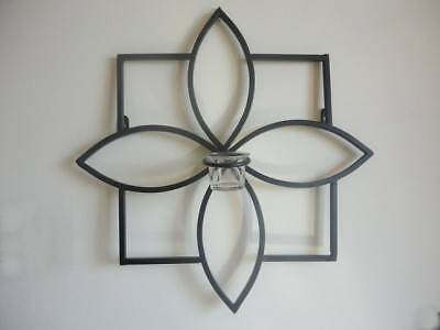 ONE Decorative Iron Candle Holder Sconce Wall Art 45*45cm Kings Park Blacktown Area Preview