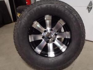 """16"""" Wheel and Tire Combo 16x7 6x139.7 6x5.5 265/75R16 Westlake AT Tires Chevy GMC"""