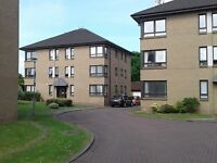 Spacious 2 bed ground floor Knightswood flat: well-built, dual-aspect, nice development, quiet area