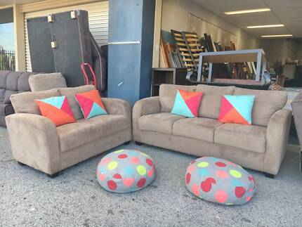 DELIVERY TODAY BEAUTIFUL MODERN CHOCOLATE 2X3 Sofa lounge couch