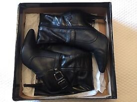 River Island Leather Boots Size 5